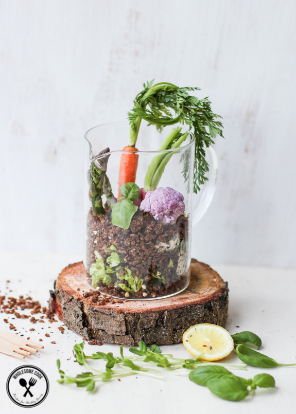 Fun Garden Salad with Edible Dirt