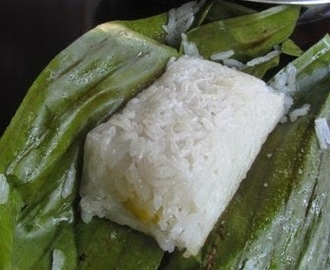 Vietnamese Steamed Banana Sticky Rice