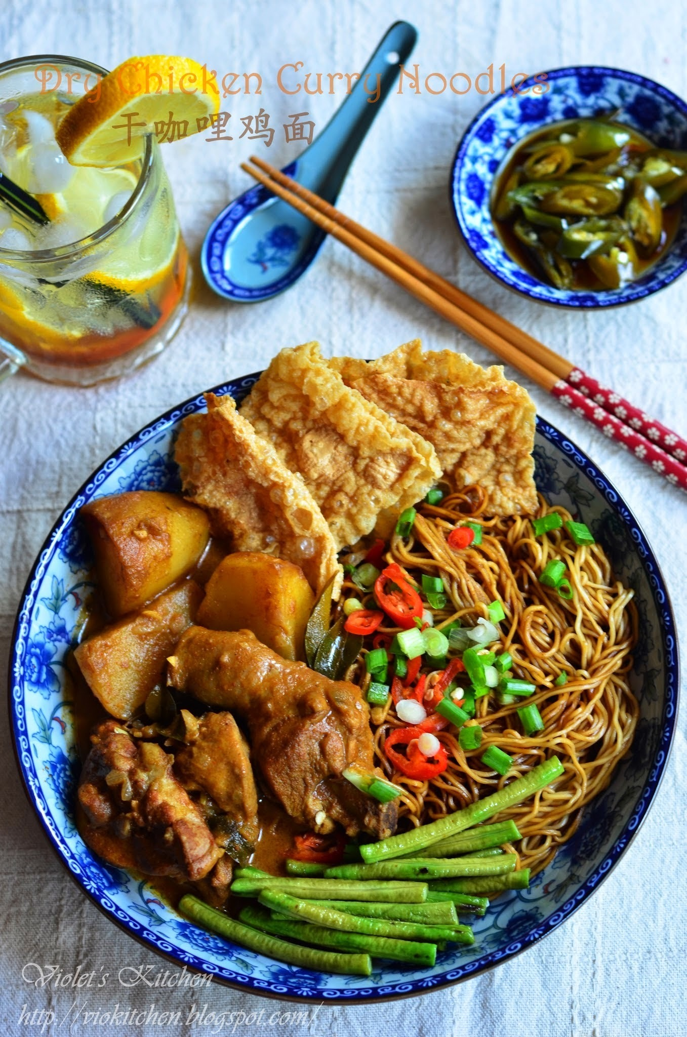 干咖哩鸡面 Dry Chicken Curry Noodles
