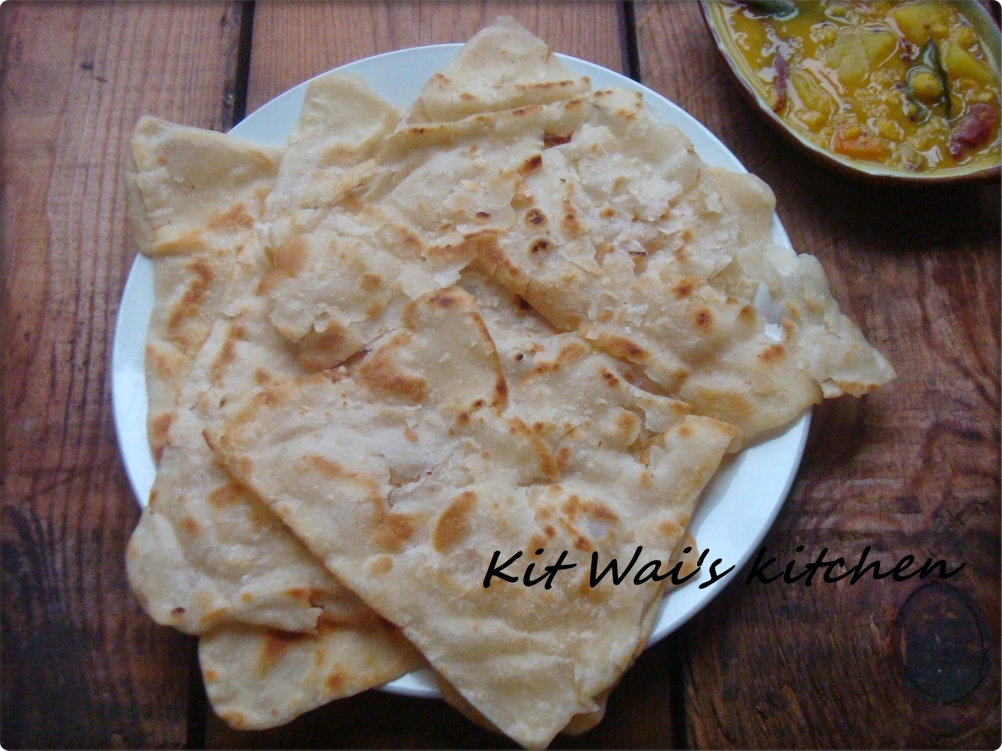 印度煎饼 & Dhal curry ~ Indian Flatbread ( Roti Canai ) & Dhal Curry