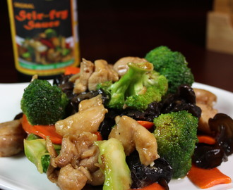 Chicken Stir Fry with Broccoli and Black Wood Ear
