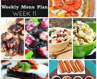Dinner Divas Weekly Menu Plan - Week 11
