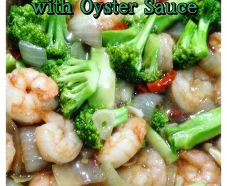 Recipe: Broccoli and Shrimp Stir Fried with Oyster Sauce