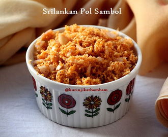 Sri Lankan Pol (Coconut) Sambol | International Recipes