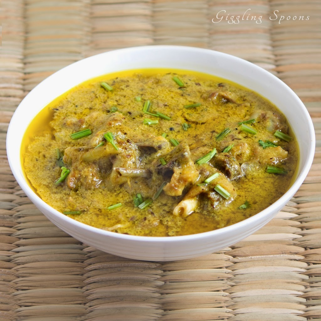 Yakhni (Soft succulent mutton in yogurt based gravy)