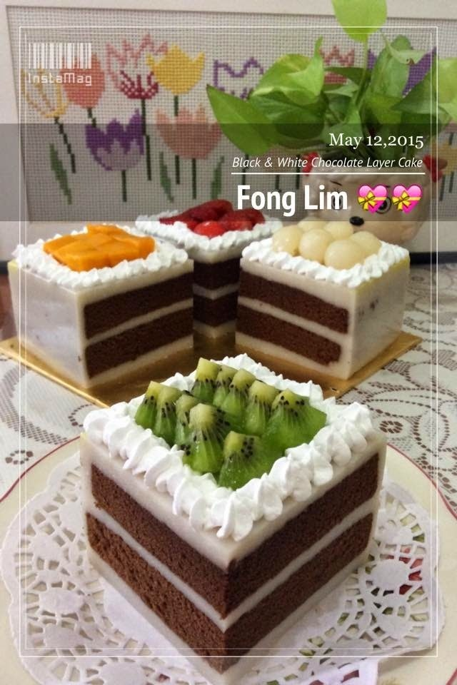 ~~~ Black & White Chocolate Layer  Cake  ~~~~~~黑白朱克力千层蛋糕 ~~~