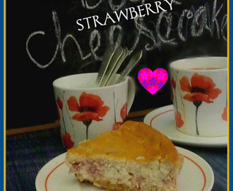 Baked Strawberry Cheesecake for Valentines' Day Celebration
