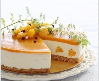 No-Bake Mango Yogurt Cheesecake 免考芒果优格芝士蛋糕