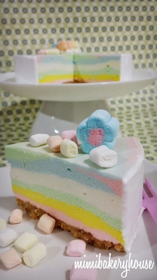Rainbow Cheesecake ▪ Non Baked
