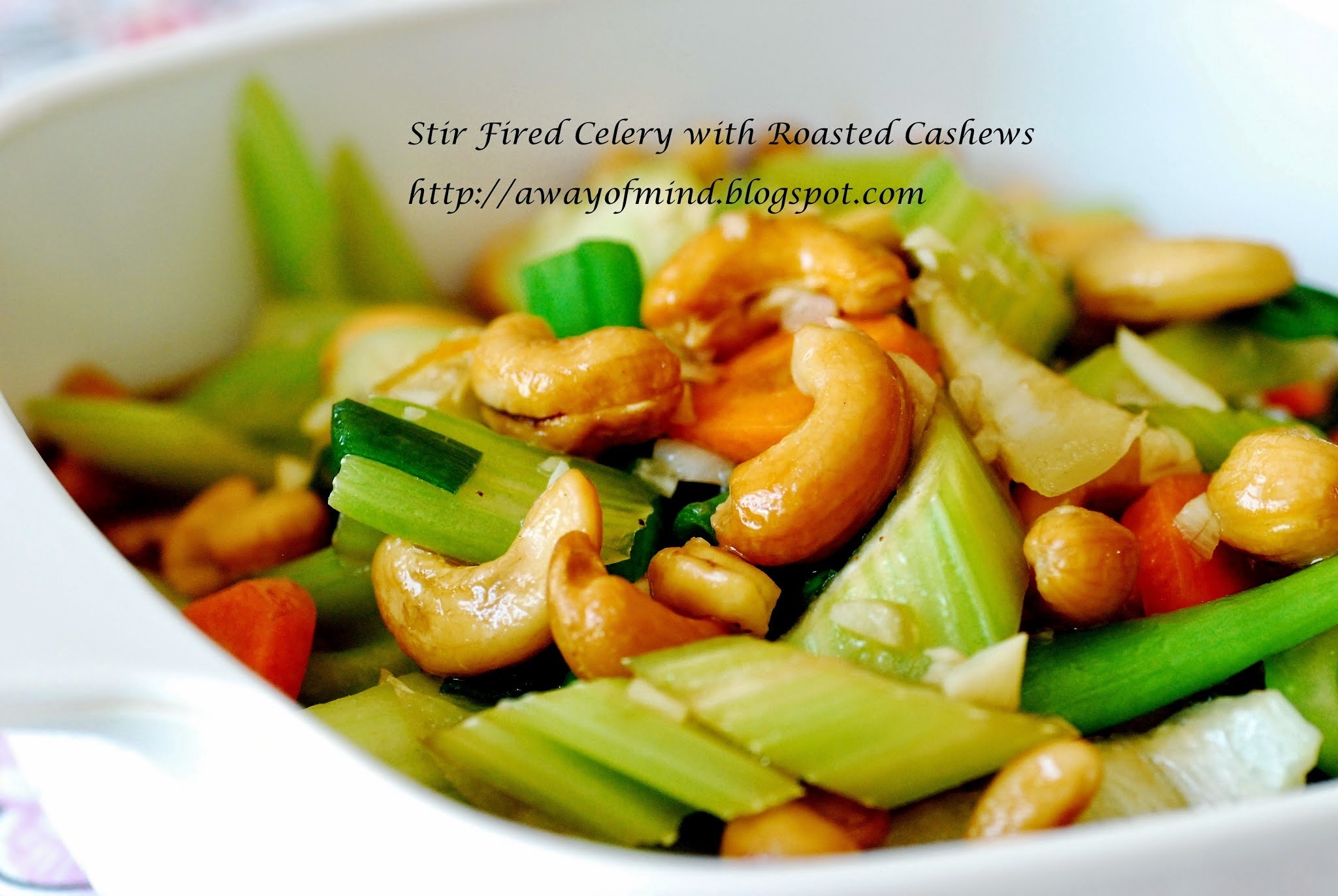 Stir Fried Celery with Roasted Cashews