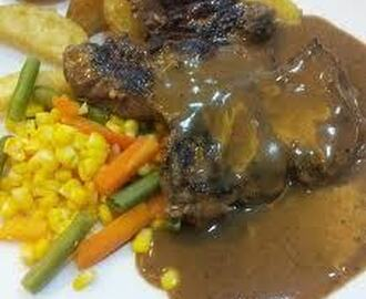 RESEP STEAK DAGING KAMBING SAUS MADU