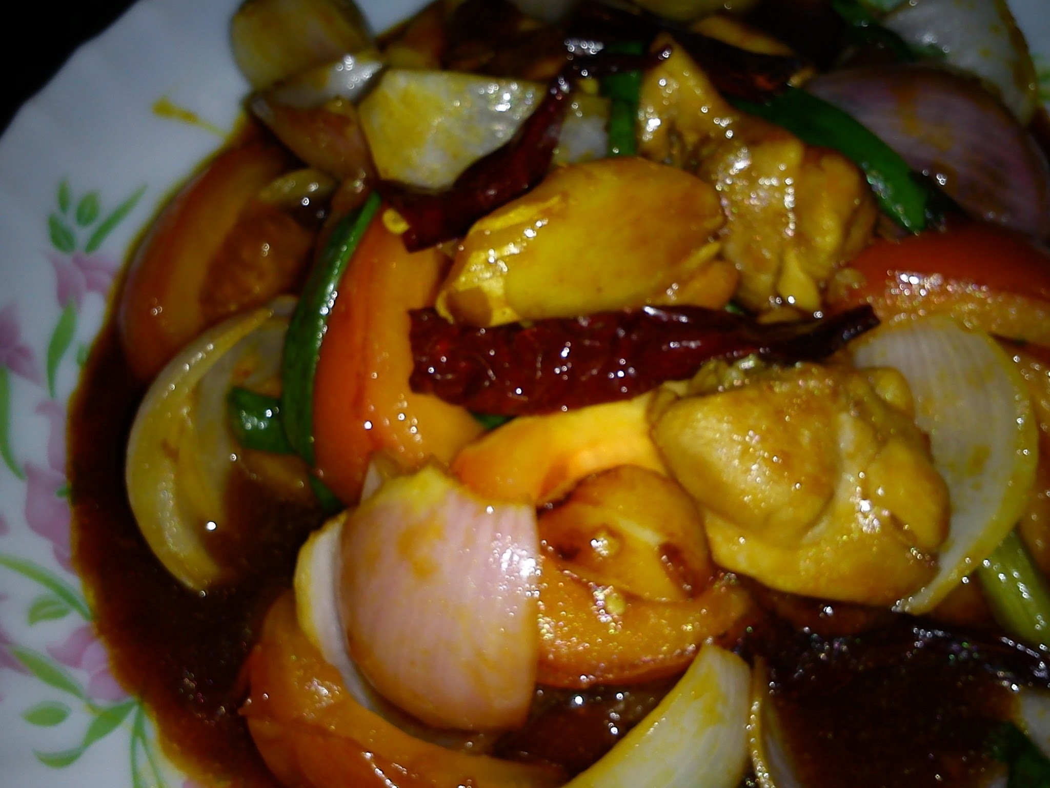 EZCR#16  -  STIR FRIED CHICKEN WITH DRIED CHILLIES ['KUNG PAO' CHICKEN]