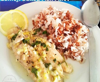 Lemon Garlic Baked Fish Fillets
