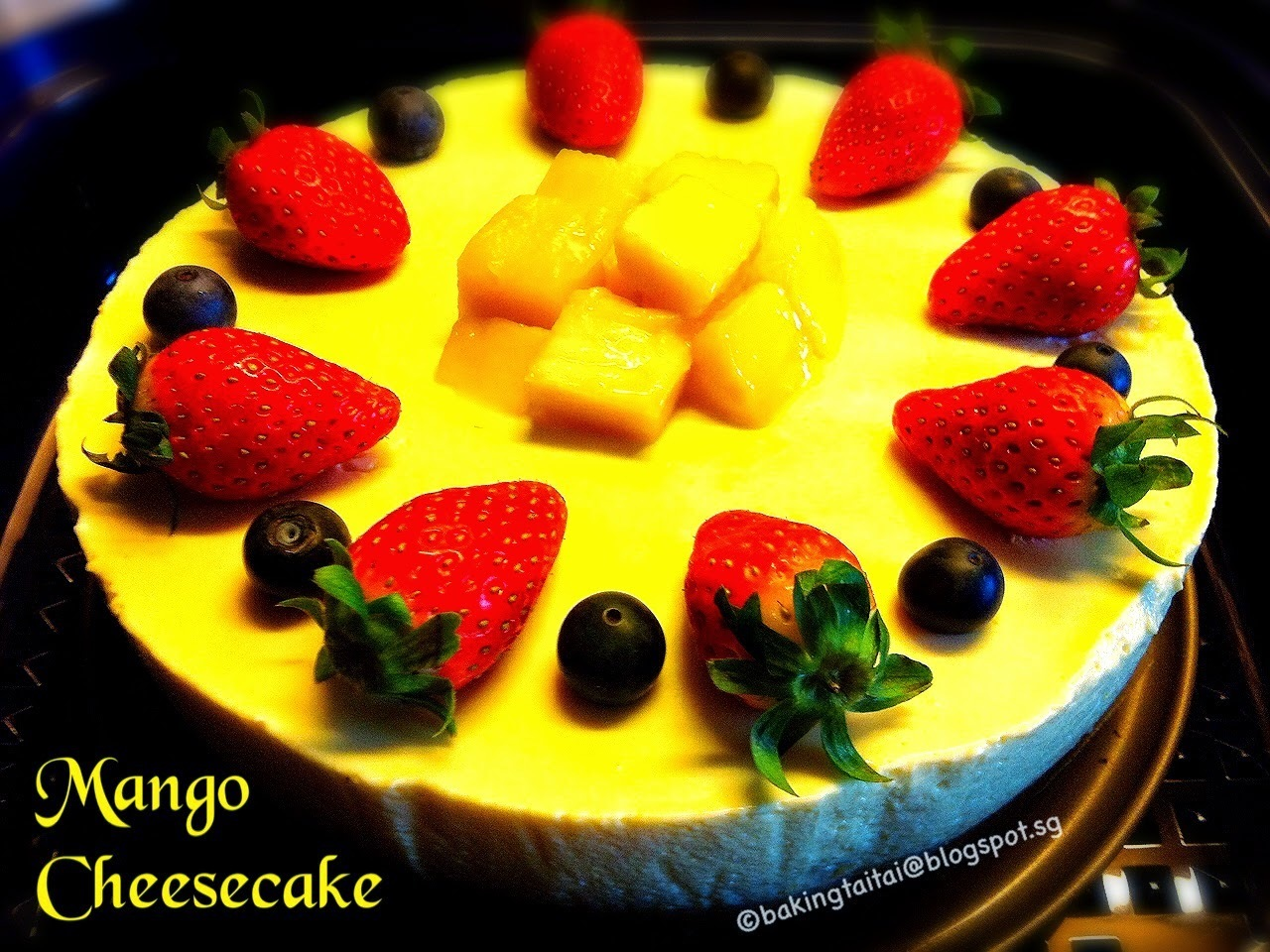 Healthy Non-Bake Mango Cheesecake 免烤芒果芝士蛋糕健康食谱 (中英食谱)