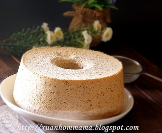 伯爵红茶乳酪戚风蛋糕 (Earl Grey Tea Cheese Chiffon Cake)