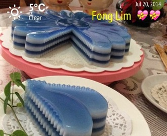 ~~  Blue Pea Jelly Cake ? 蓝花燕菜蛋糕  ~~