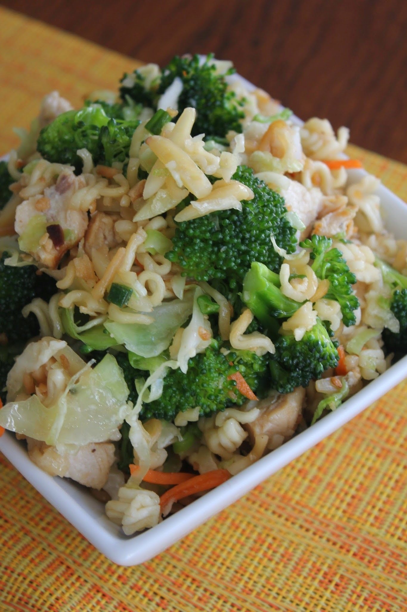 Broccoli Cabbage Asian Chicken Salad