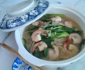 Glass Noodles In Drunken Prawn Soup