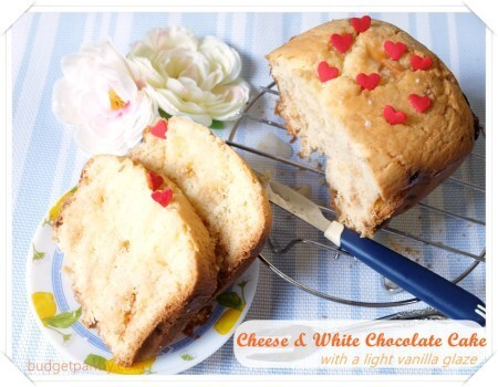 Cheese and white Chocolate Cake