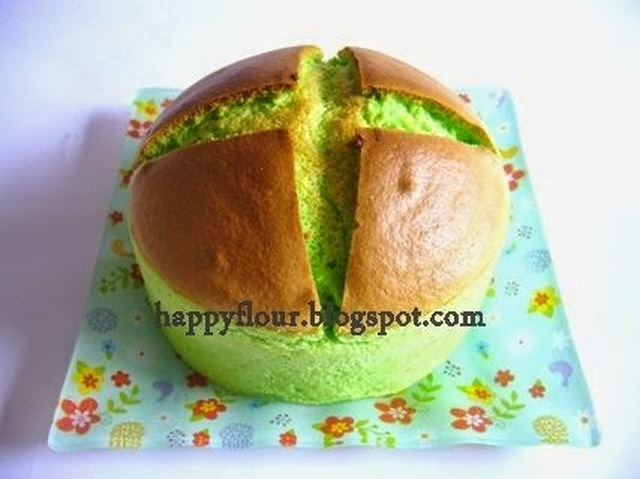 Pandan Hot Cross Cake