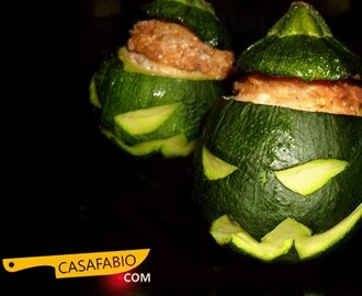 Courgettes farcies d'Halloween