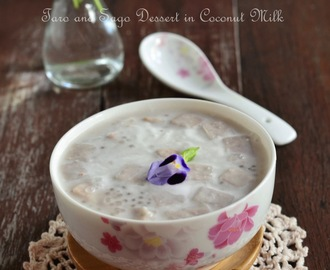 椰汁芋头西米露 Taro and Sago Dessert in Coconut Milk
