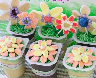 SPRING FLOWER GARDEN PUDDING CUPS #SnackPackMixIns