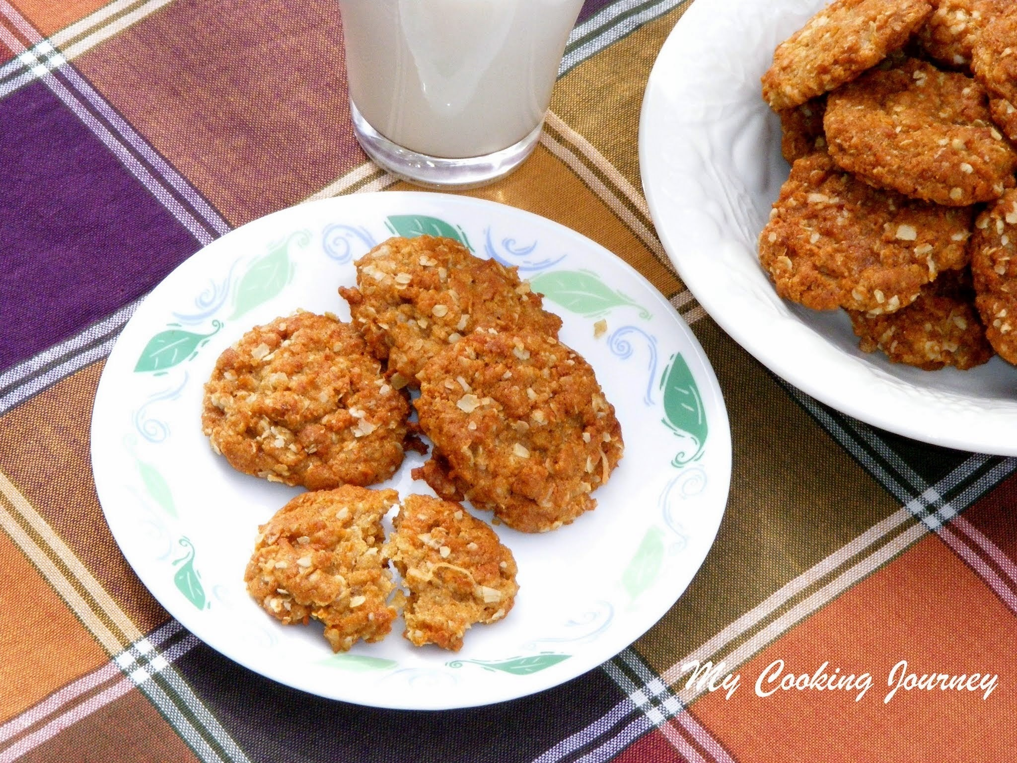 Anzac Biscuits - A Popular Biscuit/Cookie from Australia and New Zealand (Egg Less Cookies)