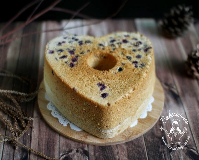 Bluberry Yogurt Rice Flour Chiffon Cake LTU #02