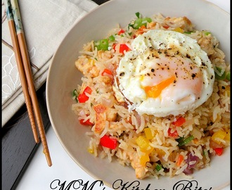 Chicken Fried rice…fooling Monday blues!!