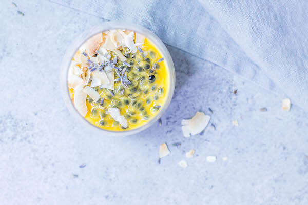 Coconut Passion Fruit Panna Cotta (AIP, Paleo & Low FODMAP Friendly)