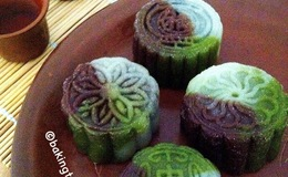 Healthy Snow Skin Mooncake tri colour