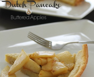 Dutch Pancake with Buttered Apples