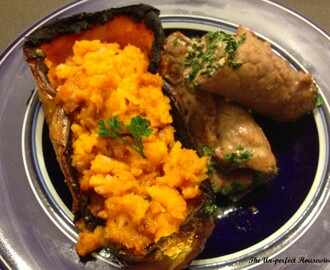 Bacon Stuffed Butternut Squash