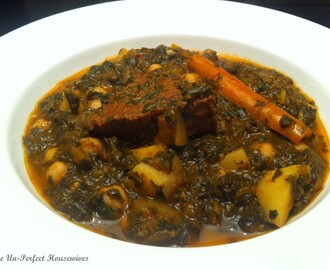 "Healthy Tunisian Green Chard & Spinach Stew, ""Mar9et Khodhra"""