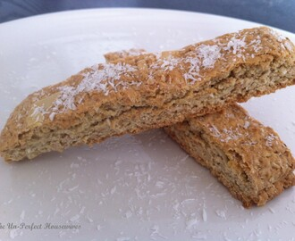 Whole Wheat Coconut Biscotti Treat