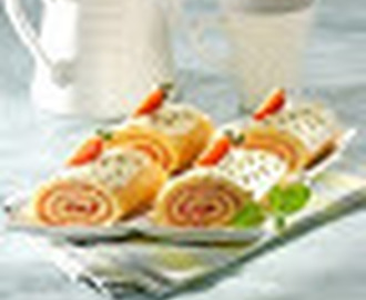 Resep Kue CHEESE AND STRAWBERRY ROULADE