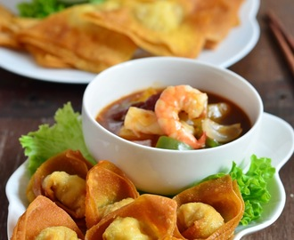 锦卤云吞 Fried Wonton with Sweet and Sour Sauce