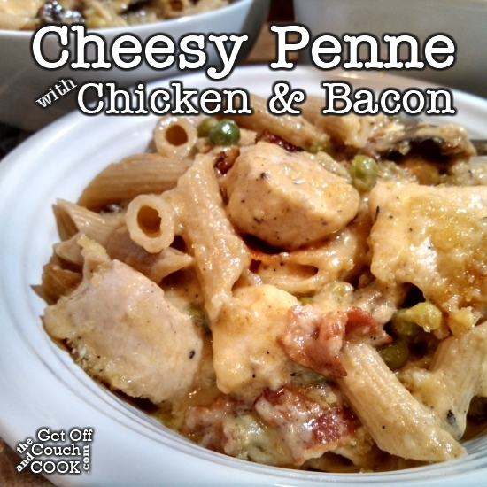 Cheesy Penne with Chicken and Bacon