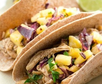 Slow-Cooked Jerk Chicken Tacos with Pineapple Slaw