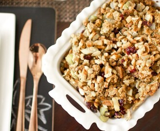 Cranberry Almond Dressing {Semi-Homemade Stuffing}