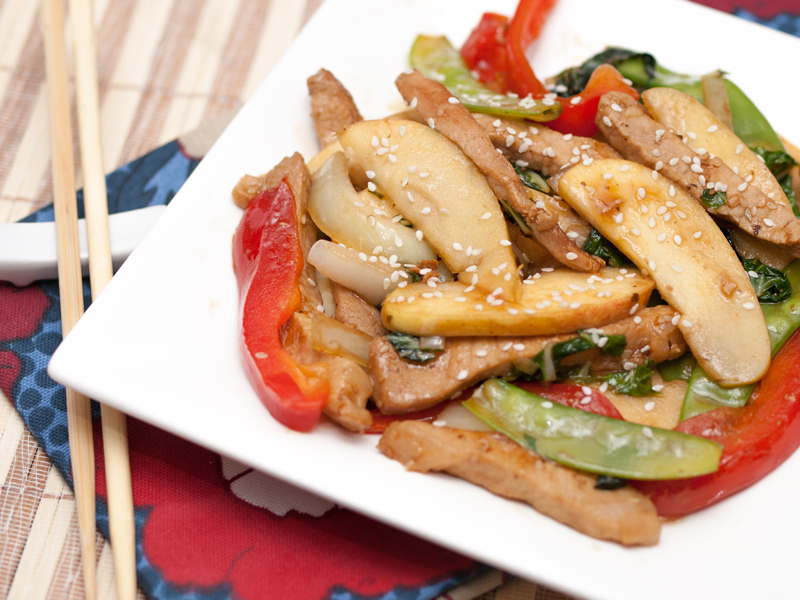 Pork and Apple Teriyaki Stir Fry