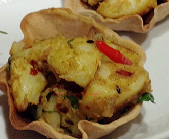 Spicy Potato filled tartlets / Deconstructed Samosas…
