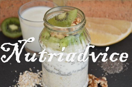 Kefir, chia and walnut overnight oats