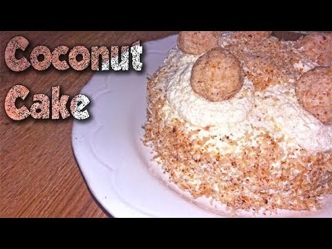 Eggless coconut cake recipe at home | नारियल केक | how to make coconut cake without egg