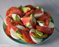 Tricolore Salad with Strawberry Dressing