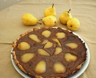 Tarte aux poires et chocolat (Chocolate and pear tart)