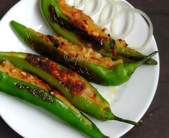 Stuffed Chillies with Peanuts & Potato