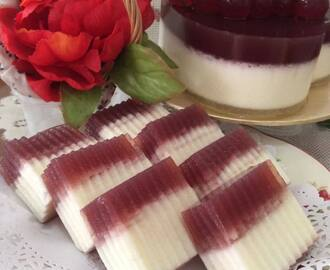 ~ Cheesy Red Wine JellyCake ~ 芝士红酒燕菜蛋糕~