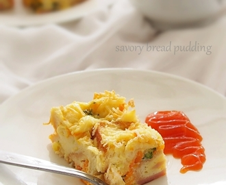 Resep Savory Bread Pudding